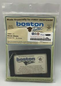 Boston Leather neck chain Double I.D.  no badge NEW 5982-1