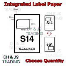 A4 Integrated Label Paper - Amazon eBay Invoice Labels S14 Invoice Paper