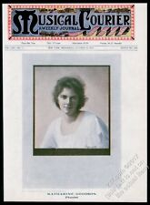 1914 Katharine Goodson photo Musical Courier framing cover