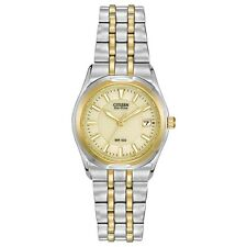 Citizen Eco-Drive Corso Champagne Dial Two Tone Date Women's Watch EW0944-51P SD
