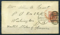 Grossbritannien 1819 Mi. 41 Brief 100% Liverpool, Amerika, Washington