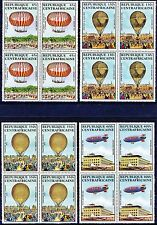 Central African Republic Manned Flight 4 Blocks of 4 MNH Scotts C262 to C265