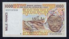 WEST AFRICAN STATES  1000 FRANCS  1997 COTE D´ IVOIRE PICK # 110Ag  UNC.