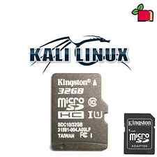 Kali Linux preinstallato 32gb CLASSE 10 scheda SD per Raspberry Pi A, B, B +