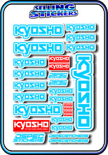 KYOSHO MODEL RC CAR DRONE BOAT BUGGY MINI Z STICKERS DECALS ROBOT R/C L/BLUE W