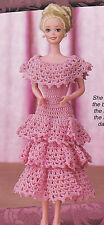 Crochet Pattern ~ FASHION DOLL SPRING BALL SWEETHEART GOWN Dress ~ Instructions