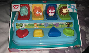 Kids Pop Up Animals Learning Activity Toy Fun Baby Toddler Easy Play Games