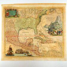 1720 Map of North America Canada U.S. Caribbean Mexico Johann Baptiste Homann
