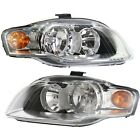 Halogen Headlight Set Left And Right For Audi B7 Body 2005-2009 A4 Quattro A4