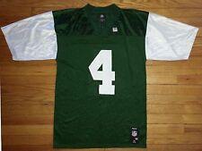 Reebok Football Jersey M Green White Team Apparel Favre #4 NY Jets NWOT s3033