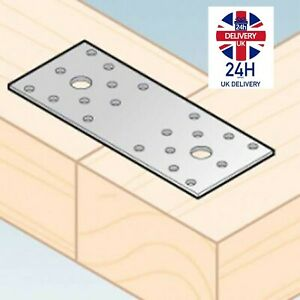 Flat Connecting Joining Plate Galvanised Heavy Duty Bracket Steel Sheet Timber -
