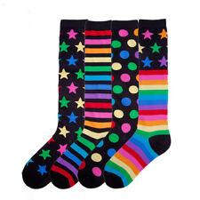 K.Bell Stripes Stars Multi Mix & Match 2-Pair Pack Knee High Socks Ladies New