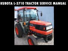 KUBOTA L3710 WORKSHOP SERVICE MANUAL -670pg for L-3710 Tractor Rebuilding Repair