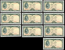Central Bank of Ireland Eire £1 Pound Notes 1972 x10. Ten notes in sequence AU