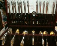 Holmes & Edwards Service for 12 Romance Silverplate Flatware 1952 (65 Pieces)
