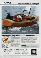 Fricke & Dannhus HD-750 Mahagoni Sonderdruck Yacht Test 2006 Kielschwertboot