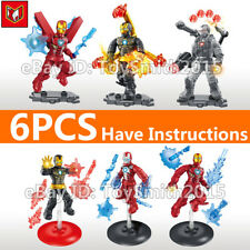 Marvel Mini Action Figure Super Heroes Avengers Building Blocks Iron Man 6PCS