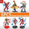 Marvel Mini Action Figure Super Heroes Avengers Building Blocks Iron Man 6PCS