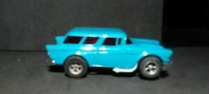 AURORA AFX MAGNA TRACTION BLUE '57 CHEVY NOMAD #1903 NEW OLD STOCK RARE