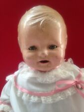 "Antique Large 20"" Composition Doll Tickletoes Type Face"