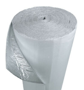 """US Energy Products 48"""" x 125' Double Bubble White Reflective Foil Insulation R8"""