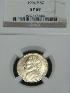 1994 Jefferson Nickel NGC SP69 Specimen Beautiful Coin PQ Luster #G984