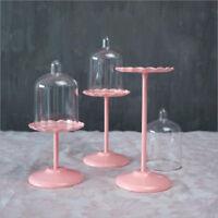 3x Round Cake Stand Metal Pink Modern Dessert Wedding Birthday Party Display