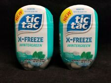 Lot of 2 Tic Tac X-Freeze Strong Mint Sugar Free New & Sealed BB 1/3/21 1.7oz