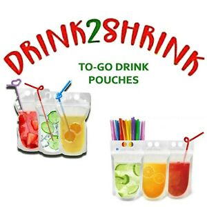 DRINK2SHRINK 2WEEK SUPPLY w/TO-GO DRINK POUCHES! (NOT PRE MADE)