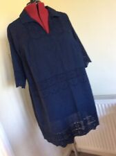 Evans. 18 Long Embroidered Cotton Top Cover Up  New.         Tb3