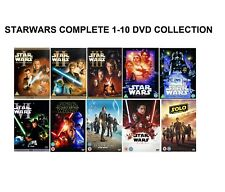 STAR WARS COMPLETE COLLECTION DVD SET EPISODE PART 1 2 3 4 5 6 7 8 9 10 FILM UK