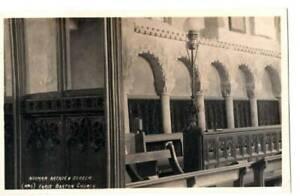 [22491] RPPC Norman Arcade & Screen Earls Barton Church UK - ca 1930s