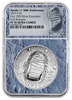 2019 Apollo 11 50th Commem Silver Dollar NGC PF70 FR Moon Core SKU56542