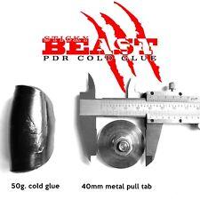 GLEXO STICKY BEAST PDR COLD GLUE 50gram + METAL PULL TAB 40mm