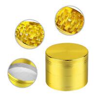 4-layer Aluminum Herbal Herb Tobacco Grinder Smoke Grinders Gold  A+