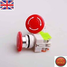 2 PC 600V 10A ROSSO fungo EMERGENZA stop Push Button Switch