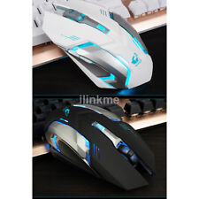 Rechargeable Wireless Silent LED Backlit USB Optical Ergonomic Gaming Mouse US