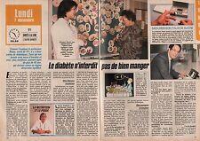 Coupure de presse Clipping 1987 Le Diabète n interdit pas de manger  (2 pages)