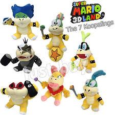 "7X New Super Mario Bros. Koopalings Plush Lemmy Roy Iggy Koopa Soft Toy Doll 8"""