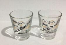 OLD SOUR MASH JACK DANIEL'S SHOT GLASSES X 2,JACK DANIEL'S SHOT GLASSES X 2