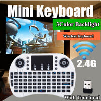 With BACKLIGHT Mini i8  2.4GHz Wireless Keyboard for Smart TV PC Android TV