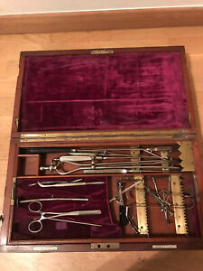Antique Surgeons box and instruments