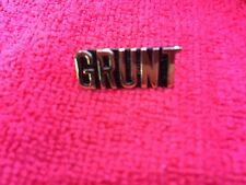 Grunt Text Hat Pin