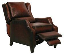 Barcalounger Berkley Genuine Stetson Bordeaux Leather Recliner Chair 7-4059