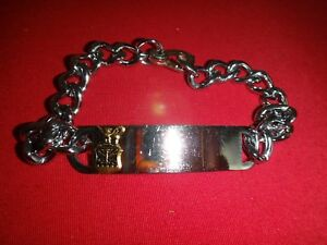 US AIR FORCE Stainless Steel Silver Tone Bracelet Never Worn
