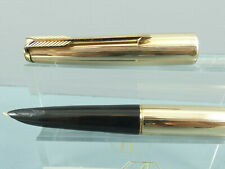 """Vintage Parker 61 Insignia 12K Gold Filled Fountain Pen,GT, Double Jewel """"VGC"""""""
