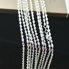 5PCS 16-30inches 925 Sterling silver plating Double Water Wave Chain Necklaces