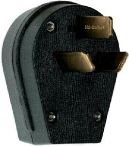 Pass & Seymour 30A/50A 125/250V Black, 3P, 3W, Dual Power Range/Dryer Angle Plug