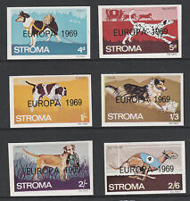 GB Locals - Stroma 5362 - 1969 CHIENS imperf Ensemble avec EUROPA surimpression