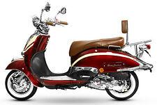 Retro Roller Mofa 25 45 KmH Motorroller 50 49 ccm rot/beige ARTEMIS BASIC 2017